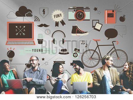 Lifestyle Activity Social Media Online Concept