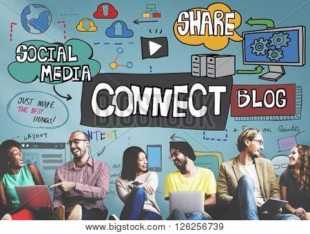 Connect Social Media Social Networking Online Concept