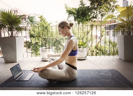Active Balance Beautiful Body Calm Connection Concept