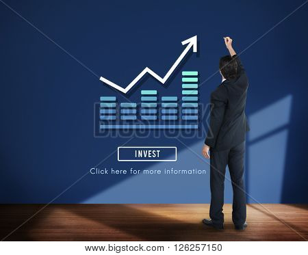 Graph Chart Invest Report Icon Concept