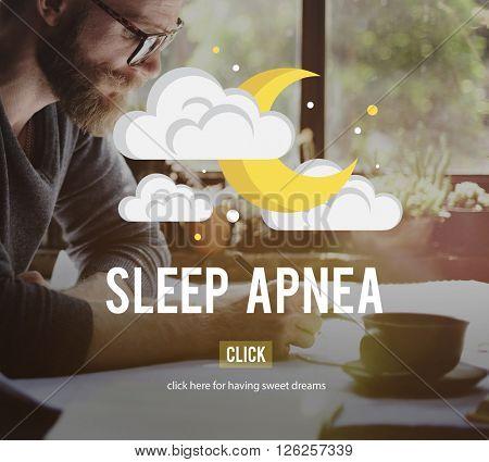 Sleep Apnea Snorer Insomnia Breathing Concept