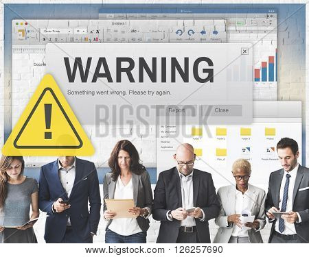 Warning Accident Danger Hazard Information Concept