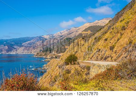 Pacific Coast Highway and Coast Ranges of California