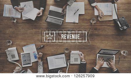 Revenue Banking Finance Cash Flow Concept