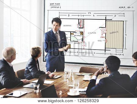Blueprint Architecture Interior Design Structure Development Concept