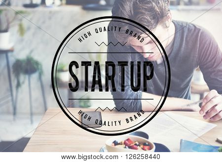Start up Mission Launch Learning New Business Concept