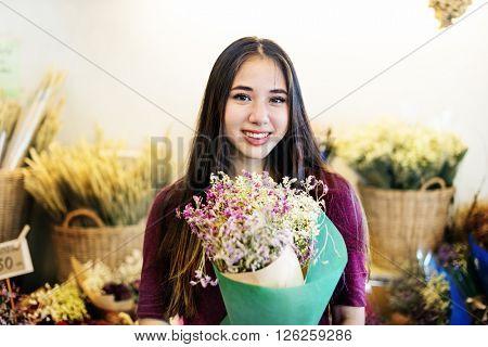 Flower Bouquet Flower Gift Happiness Joyful Concept