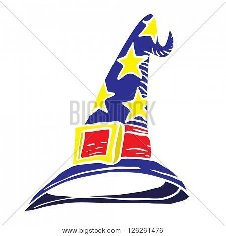 wizard hat cartoon illustration