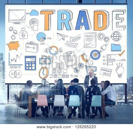 Trade Trading Trademark Barter Deal Marketing Concept poster