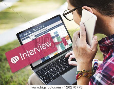Interview Evaluation Job Interview Question Concept