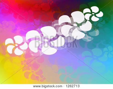 Funky Rainbow Hawiian Theme Page Design Illustration