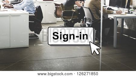 Sign-In Guidepost Information Message Pattern Concept