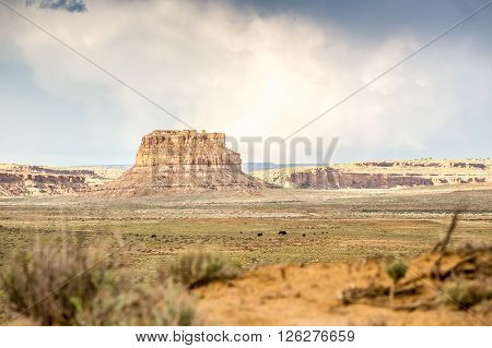 Fajada Butte in Chaco Culture National Historical Park New Mexico USA poster
