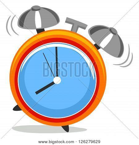 Stock Vector Illustration of Alarm Clock Ringing