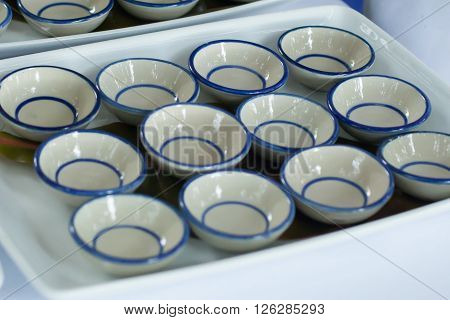 Small Ceramic Bowl Of Canape.