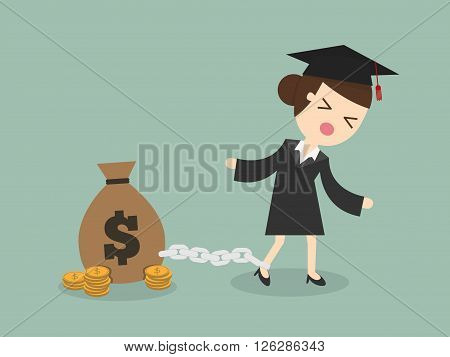 woman want to graduate as make debt