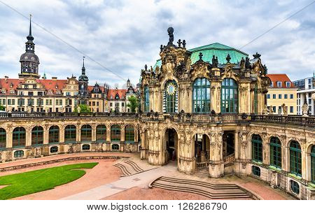 View of Zwinger Palace in Dresden - Saxony, Germany