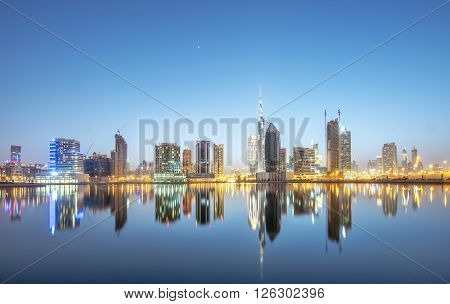 DUBAI UAE - MAY 29: Burj Khalifa world's tallest tower at 828m located at Downtown Burj Khalifa May 29 2015 in Dubai United Arab Emirates