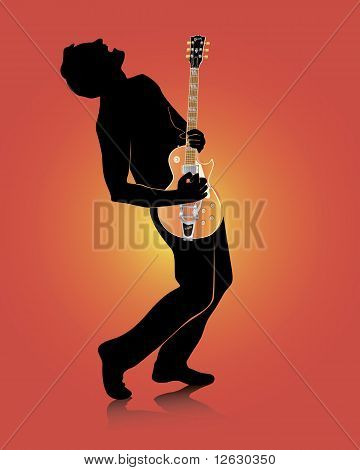 Guitarist With An Electric Guitar