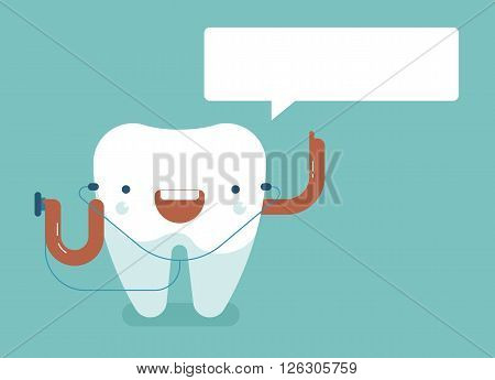 Tooth saying of dental concept design eps10