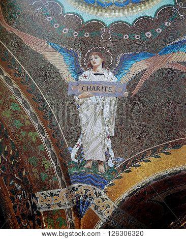 Mosaic In The Institut Pasteur,  Paris, France