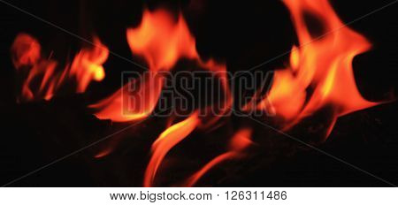 background of fire as a symbol of hell and eternal torment (abstract blured image