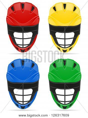 lacrosse helmets vector illustration isolated on white background
