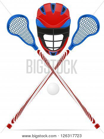 lacrosse equipment vector illustration isolated on white background