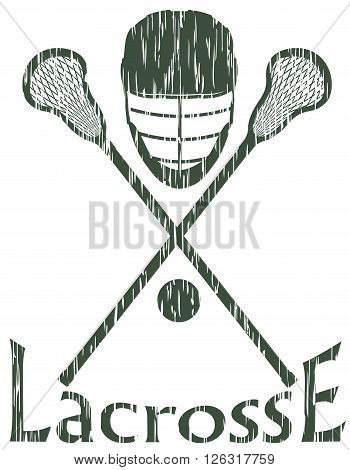 lacrosse sport concept vector illustration isolated on white background
