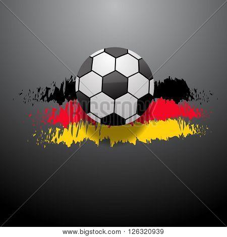 Abstract Football  Background German Flag Eps 10 Vector Illustration