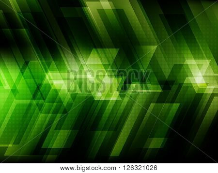 Abstract digital technology background with green stripes, Vector illustration EPS10