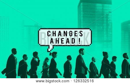 Changes Ahead Opportunity Improvement Aspiration Concept