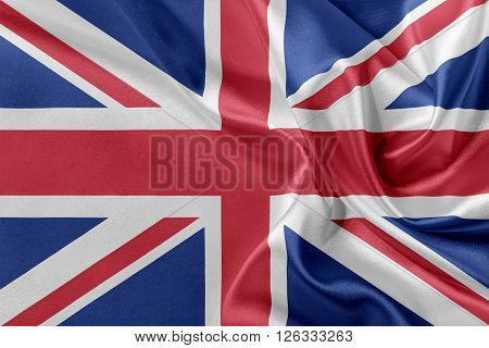 Flag of Great Britan waving in the wind.