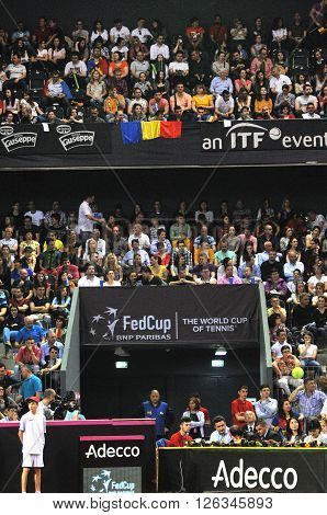Crowd Of People At A Tennis Match