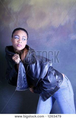 Dancing African American Girl