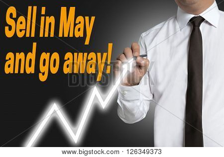 Sell In May And Go Away Trader Draws Market Price On Touchscreen