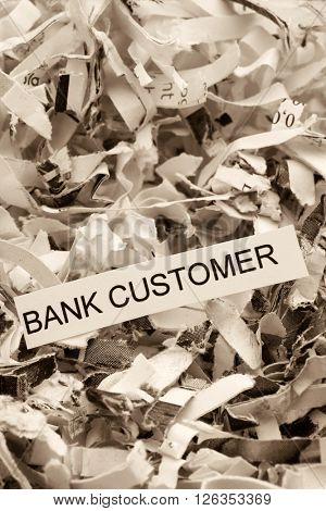 papierschnitzel bank customer