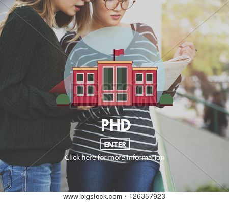PHD Academic Education Degree Study Concept poster