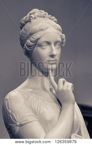 Moscow, Russia - February 16, 2016: Statue in Pushkin Museum