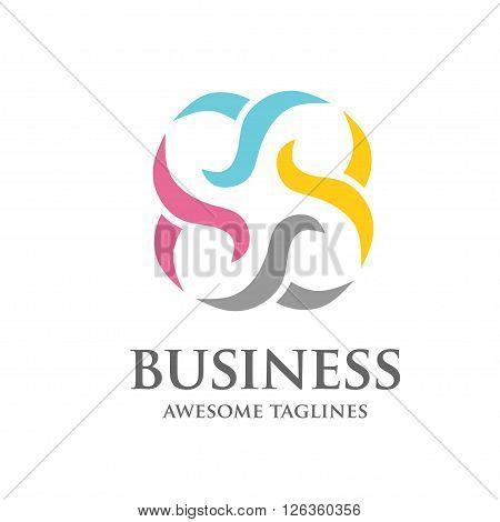 modern business corporate consuting vector logo design