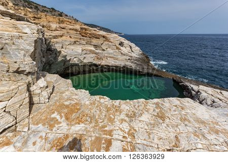 Giola Natural Pool in Thassos island, East Macedonia and Thrace, Greece
