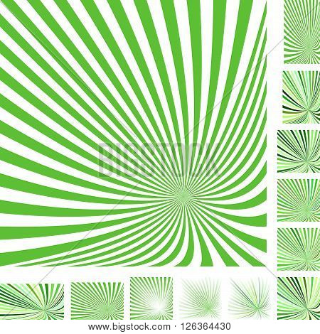 Green And White Vector Ray Burst Design Background Set Diffe Color Grant Screen