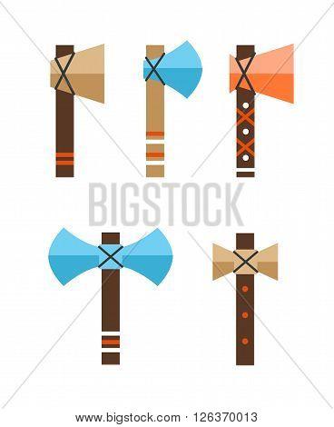 Tomahawk vector icon. American Tomahawk vector logo. Tomahawk sign set. Traditional Tomahawk. Indian Tomahawk. Axe vector icon
