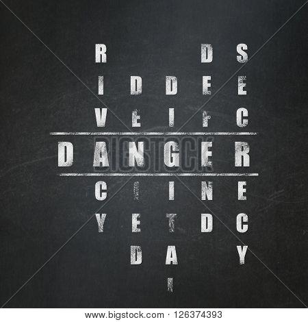 Security concept: Danger in Crossword Puzzle