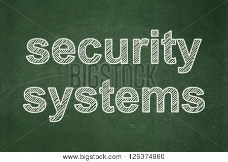 Security concept: Security Systems on chalkboard background