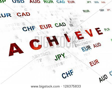 Business concept: Achieve on Digital background