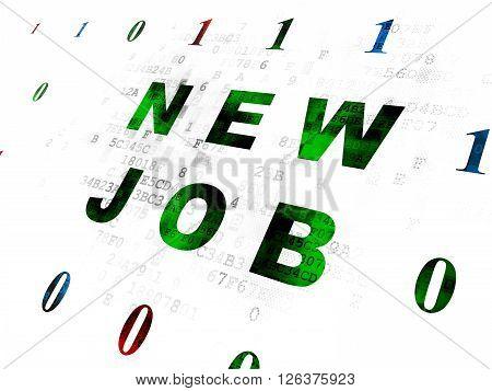 Finance concept: New Job on Digital background