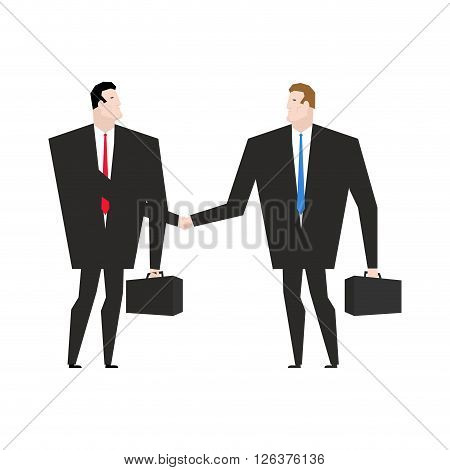 Transaction Business. Managers Shaking Hands. Handshake Office Workers. Agreement Between Directors.