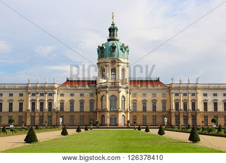 Charlottenburg palace and garden in Berlin, Germany