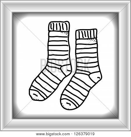 Simple Doodle Of A Pair Of Socks